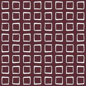 Port Wine Rustic Squares