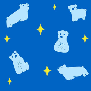 Dark Blue Polar Bear