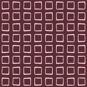 Port Wine & Barely Pink Rustic Squares