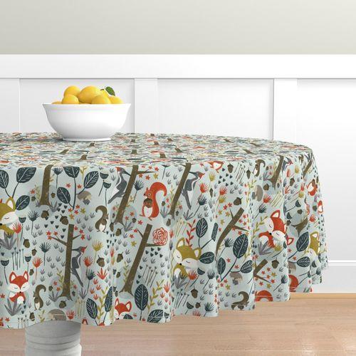 Home Decor Round Tablecloth