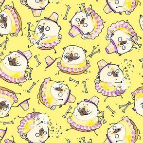 """2"""" Baton Twirler Pug - yellow"""