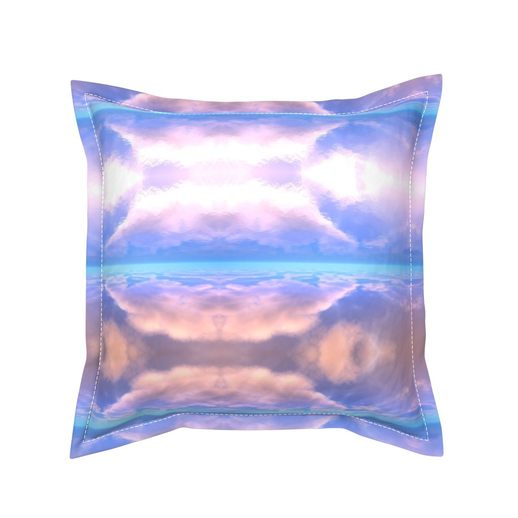 Serama Throw Pillow featuring Sky Reflections on Water 2 by gingezel