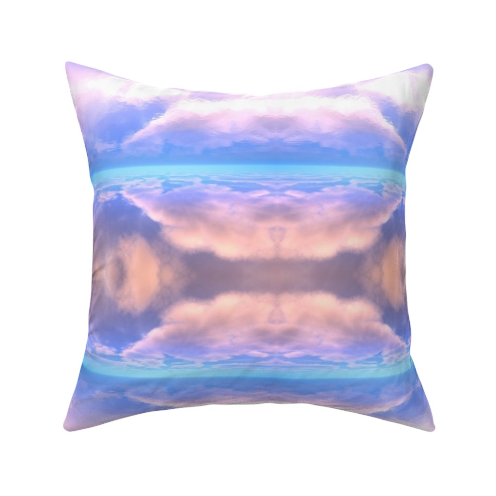 Catalan Throw Pillow featuring Sky Reflections on Water 2 by gingezel
