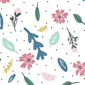 Kristin Nicole Floral Butterflies