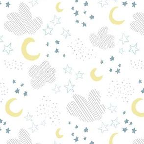 Kristin Nicole Blue Moon and Stars Nursery