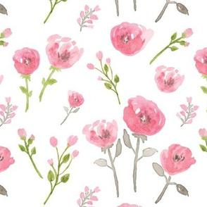 Kristin Nicole Pink Watercolor Floral