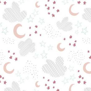 Kristin Nicole Pink and Mint Moon and Stars