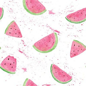 Kristin Nicole Watermelon Paint Splatter Pink