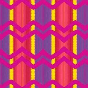 Ribbon Chevron- Neon