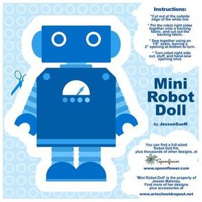 Mini Robot Doll - Blue