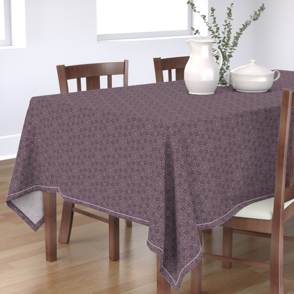 "Bantam Rectangular Tablecloth featuring Deco ""fuck"" by secretbean"