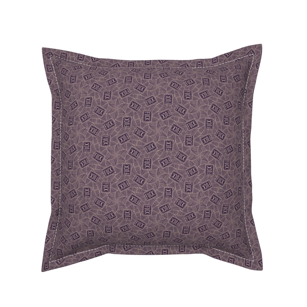 "Serama Throw Pillow featuring Deco ""fuck"" by secretbean"