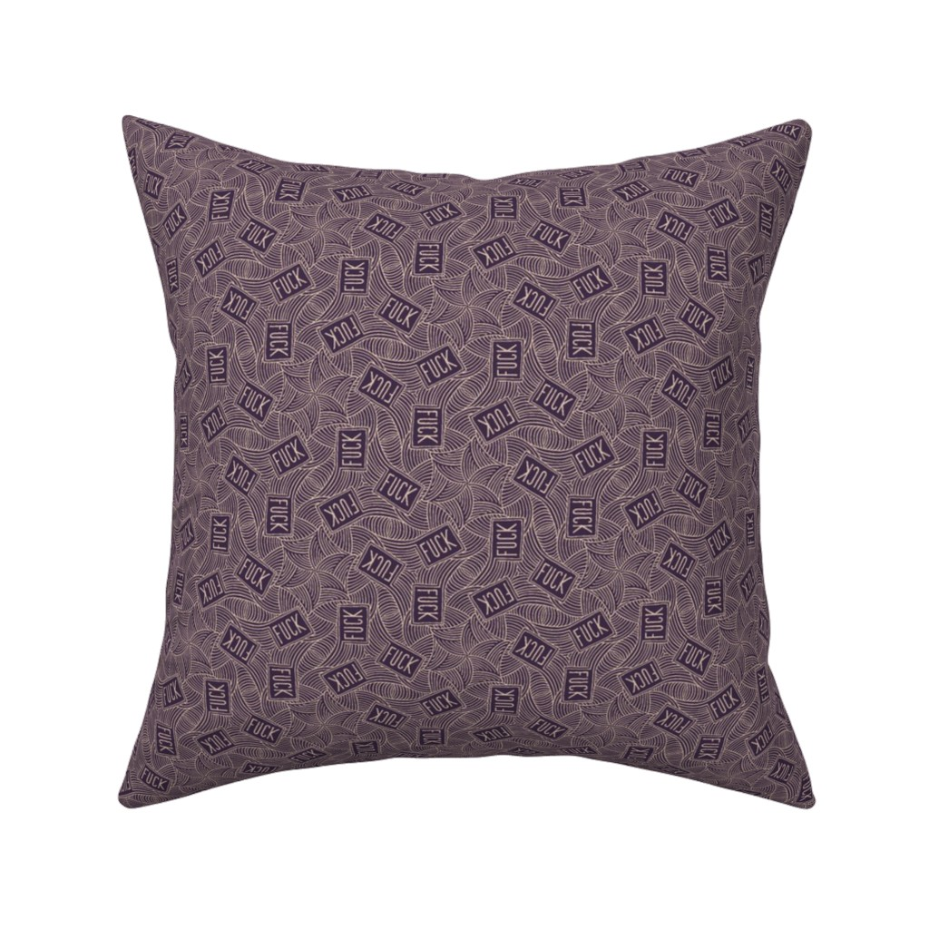 "Catalan Throw Pillow featuring Deco ""fuck"" by secretbean"