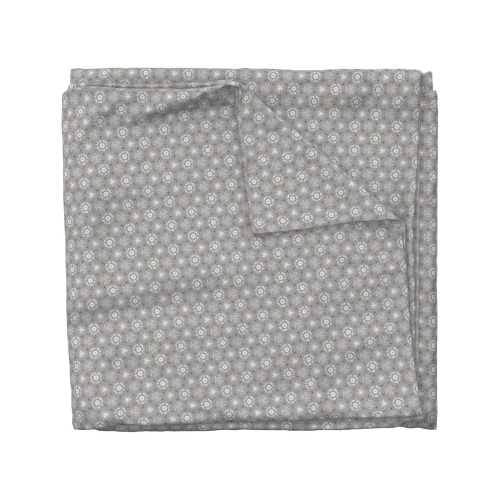 "Wyandotte Duvet Cover featuring ""fuck this. all of it."" white & grey pattern by secretbean"