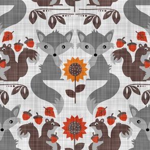 Fox & Squirrel Rustic Fall Damask