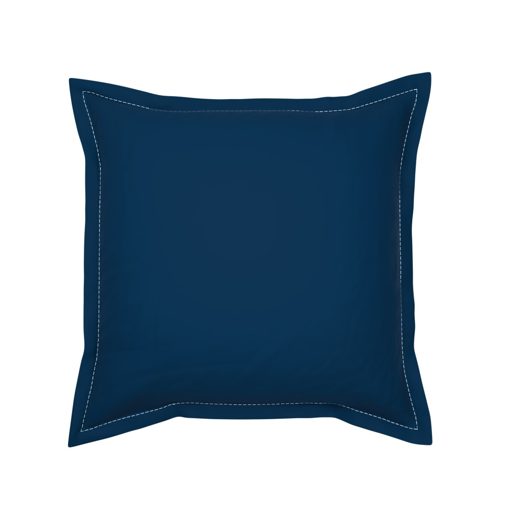 Serama Throw Pillow featuring Solid Prussian Blue (#003153) by mtothefifthpower