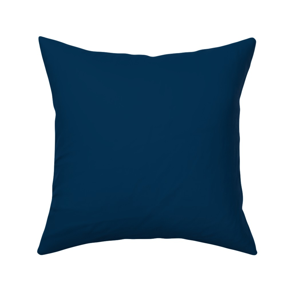 Catalan Throw Pillow featuring Solid Prussian Blue (#003153) by mtothefifthpower