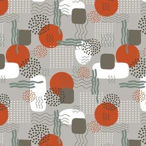 Abstract Memphis - White, Mushroom