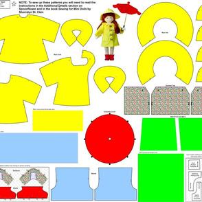 """6.5"""" Mini Doll Rain Gear"""