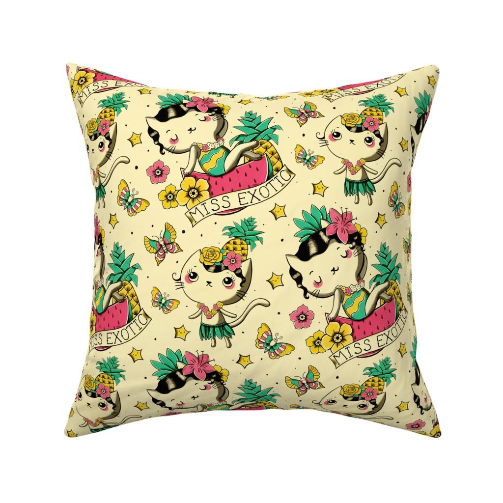 Catalan Throw Pillow featuring Miss Exotic 2 by monika_suska