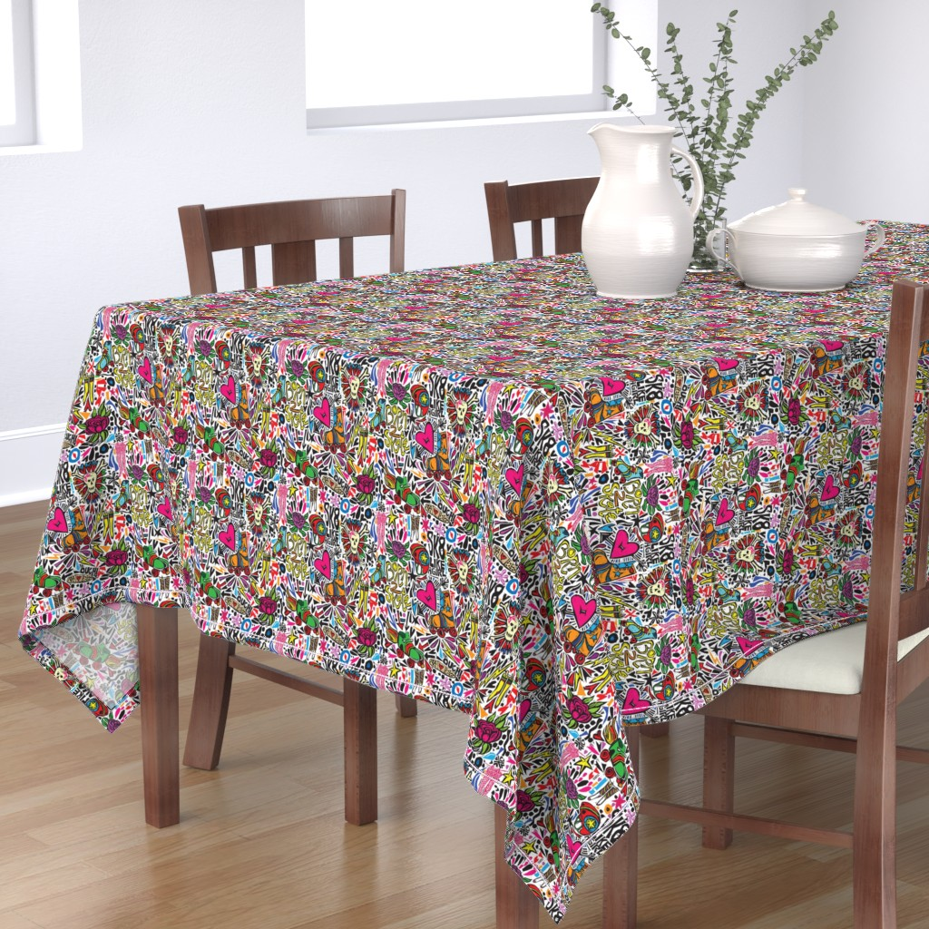 Bantam Rectangular Tablecloth featuring BORN 2 SK8 by gsonge