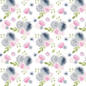 Blossoms of Blue - smallest scale / blissdesignstudio