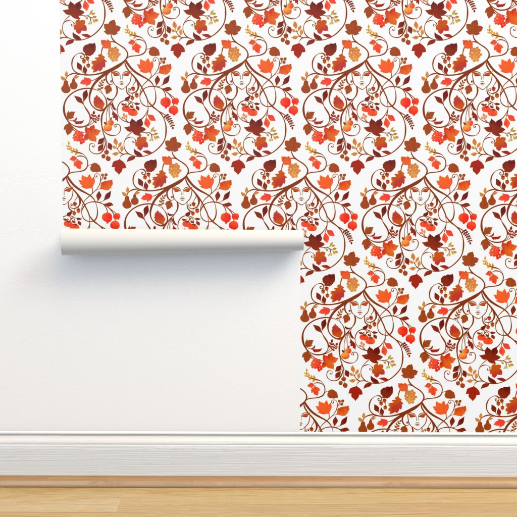 Isobar Durable Wallpaper featuring Autumn {White} by ceciliamok