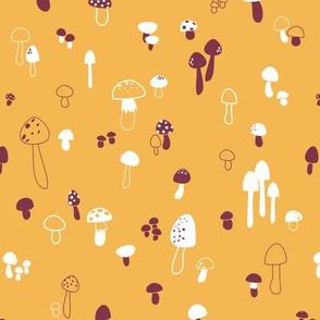 Autumn Mushrooms Mustard