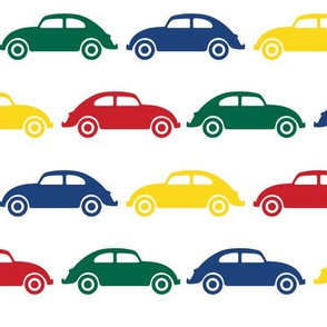 VW Beetle Love - Primary Colors - Large