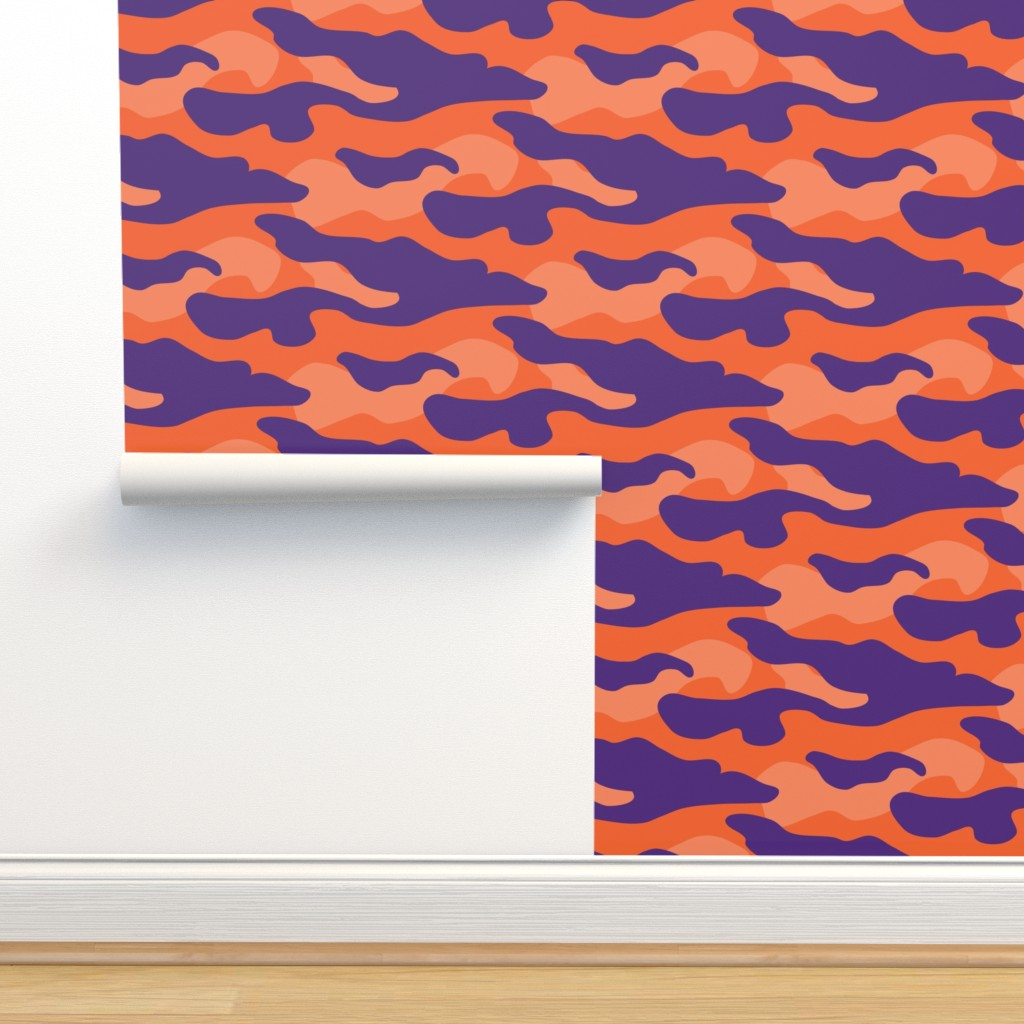 Isobar Durable Wallpaper featuring Clemson_Camouflage by rickrackscissorsstudio