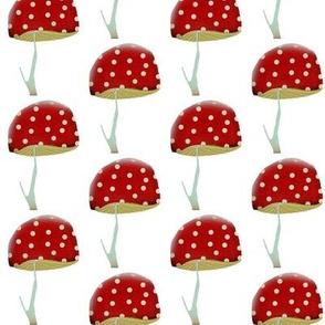 Red Mushroom Fabric