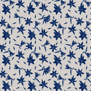 Stargazers Blue on Off White Upholstery Fabric