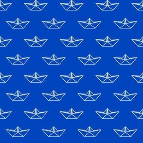 Origami Boat - Blue
