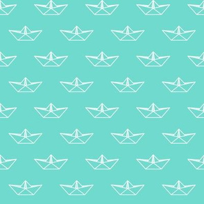 Origami Boat - Mint Green