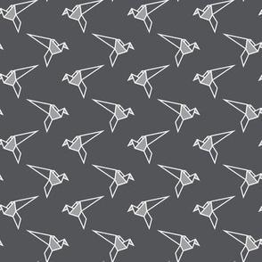 Origami Birds - Grey