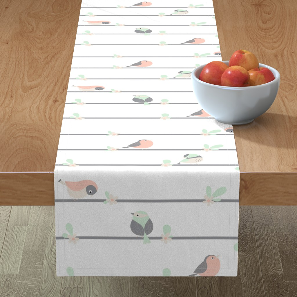 Minorca Table Runner featuring birdy line by gnoppoletta