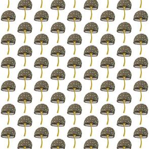 Mushrooms fabric