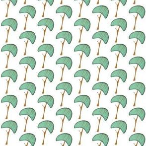 Blue Mushrooms Fabric