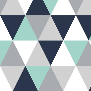 triangle cheater quilt navy blue mint and grey, kids blanket, boys crib sheet, crib blanket, baby, boy nursery  extra large triangles