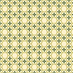 Honeycomb Cross in Green