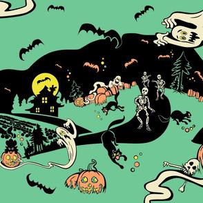 Vintage 50s Spook Show Halloween Romp