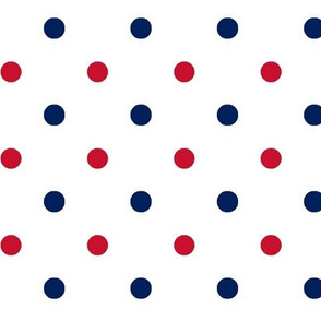 Red and blue team colori White_Dot