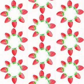 Blooming strawberries