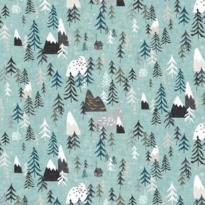 Forest Peaks (micro) sky blue