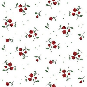 Sweet roses_Red on white