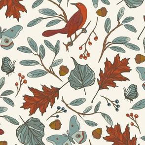 Red Bird - Ivory