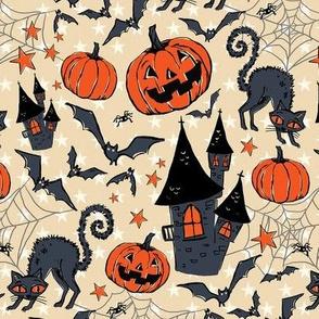 Vintage Halloween- bobcat's castle
