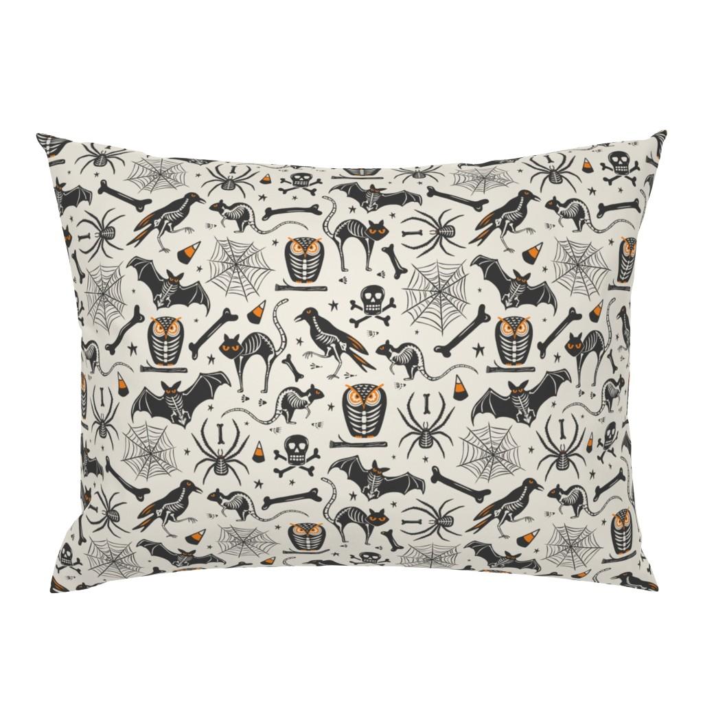 Campine Pillow Sham featuring Halloween X-Ray - Tan & Black by heatherdutton