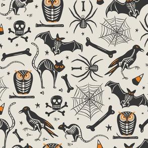 Halloween X-Ray - Tan & Black