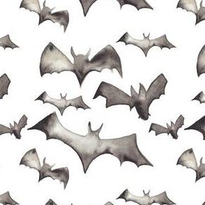 Watercolor Bats -LARGE  800 DPI